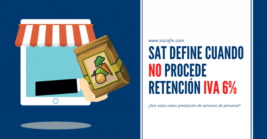 Retención IVA 6 SAT
